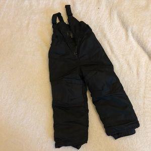 Kids snow bib pants suit, black 3T